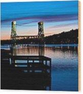 Houghton Bridge Sunset Wood Print
