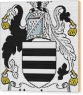 Houghton Coat Of Arms Irish Wood Print