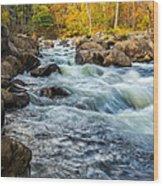 Housatonic River Autumn Wood Print