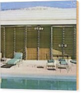 House & Garden Cover Of A Swimming Pool At Miami Wood Print