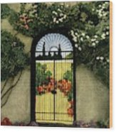 House And Garden Interior Decoration Number Wood Print