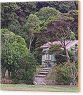 House And Garden Waitamgi Wood Print