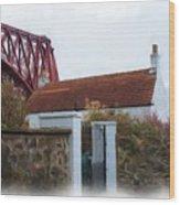 House At The Bridge Wood Print