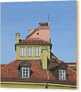 House Attic Wood Print