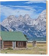 House By The Tetons Wood Print