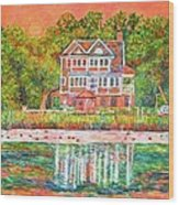 House By The Tidal Creek At Pawleys Island Wood Print