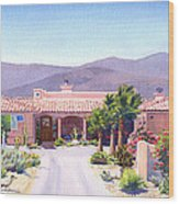 House In Borrego Springs Wood Print by Mary Helmreich