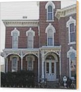 House In Denison Texas Wood Print