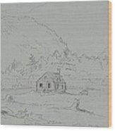 House In Mount Desert Wood Print