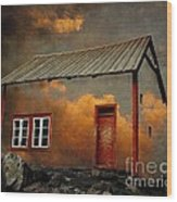 House In The Clouds Wood Print