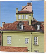 House In The Old Town Of Warsaw Wood Print