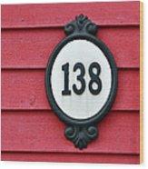 House Number. Wood Print