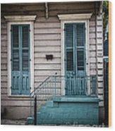 House Of Blue Doors Wood Print