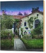 House Of Our Dreams Wood Print by Cary Shapiro