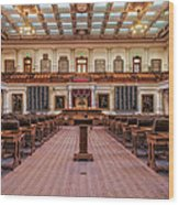 House Of Representatives - Texas State Capitol Wood Print