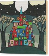 House Of The Crow Wood Print