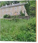 House On A Hill Wood Print