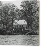 House On An Island Wood Print by Thomas Fouch