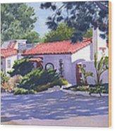 House On Crest Del Mar Wood Print