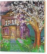 House On Milbert Street Wood Print