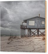 House On The Beach  Wood Print