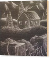 House On The Hills Wood Print