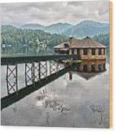 House On The Lake Wood Print