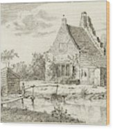 House Snaatburg Maarssen, The Netherlands Wood Print
