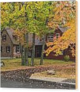 House Surrounded With Colors Wood Print