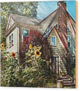 House - Westfield Nj - The Summer Retreat  Wood Print by Mike Savad