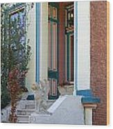 House With Griffin Lafayette Square St Louis Wood Print