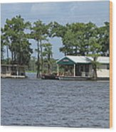 Houseboat - Atchafalaya Basin Wood Print
