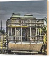 Houseboat Wood Print