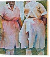 Housekeepers Of Soniat House Wood Print