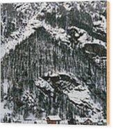 Houses In A Village In Winter, Tasch Wood Print