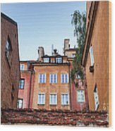 Houses In The Old Town Of Warsaw Wood Print