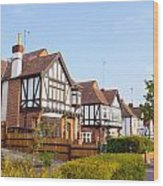 Houses In Woodford England Wood Print
