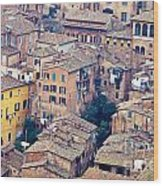 Houses Of Old City Of Siena - Tuscany - Italy - Europe Wood Print