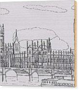 Houses Of Parliament Wood Print by Bav Patel