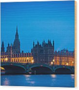 Houses Of Parliament Wood Print