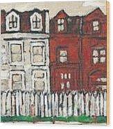 Houses On William Street Wood Print