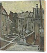 Houses Seen From The Back Wood Print