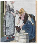 Housewife, 1811 Wood Print