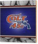 Houston Colt 45's Wood Print by Joe Hamilton