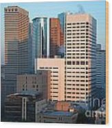 Houston Financial District Wood Print