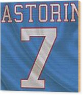 Houston Oilers Dan Pastorini Wood Print