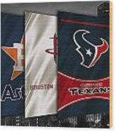 Houston Sports Teams Wood Print