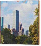 Houston The Bayou City Wood Print