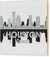 Houston Tx 4 Wood Print by Angelina Vick