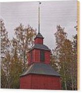 Houtskari Church Clock Tower Wood Print